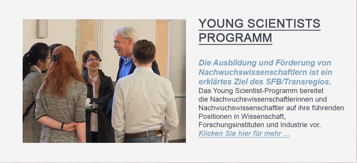 Hier sollte der Linkbutton, welcher zur Young Scientsits PROGRAMMseite des SFB/TRR 205 führt, zu sehen sein.