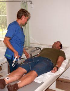 Hier sollte ein Bild zusehen sein, auf welchem ein Patient an einer klinischen Studie des SFB/TRR 205 teilnimmt.